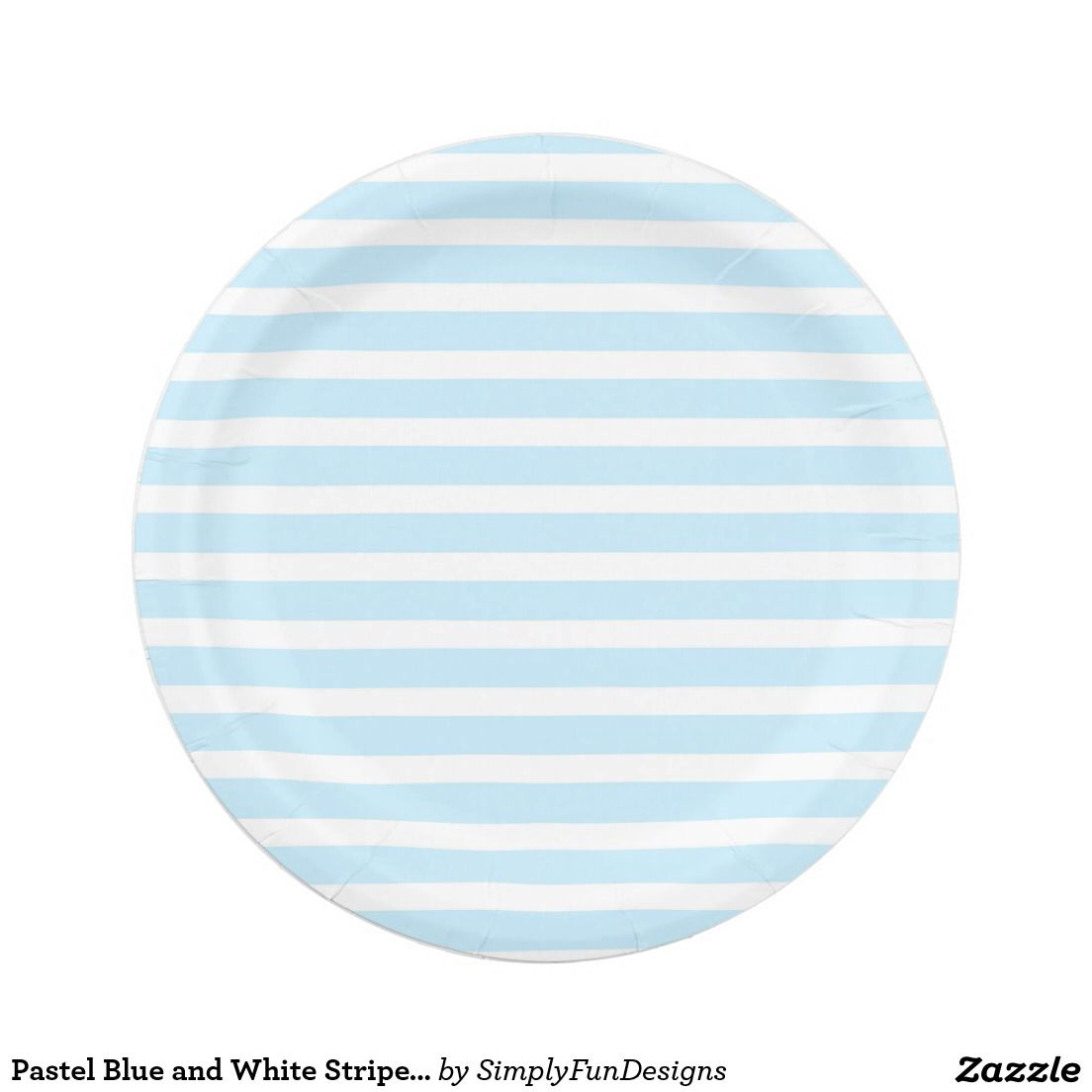 Pastel Blue and White Stripes Paper Plates 7 Inch Paper Plate  sc 1 st  Pinterest & Pastel Blue and White Stripes Paper Plates | Pastel blue and Products