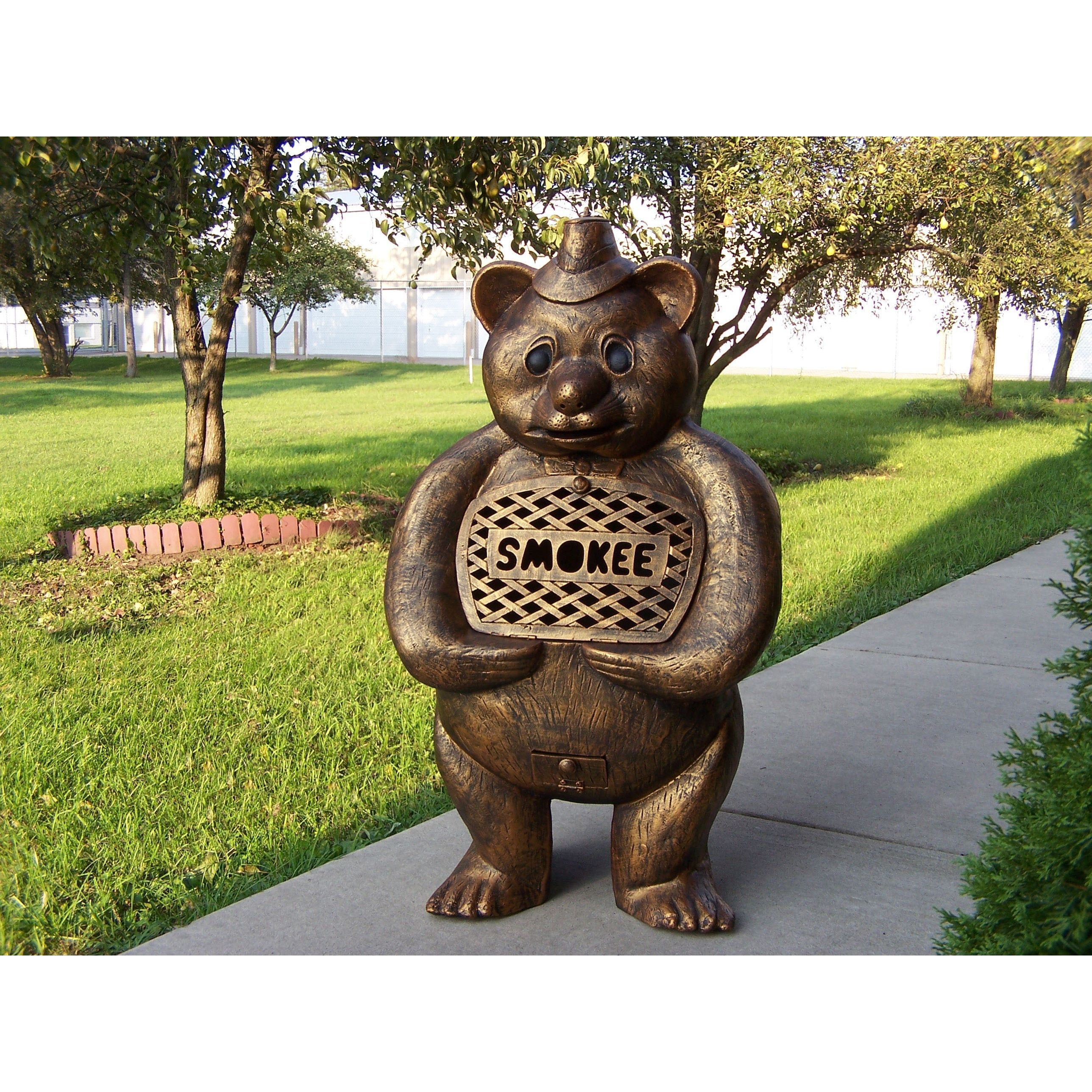 oakland living corporation smokee the bear cast aluminum chimenea