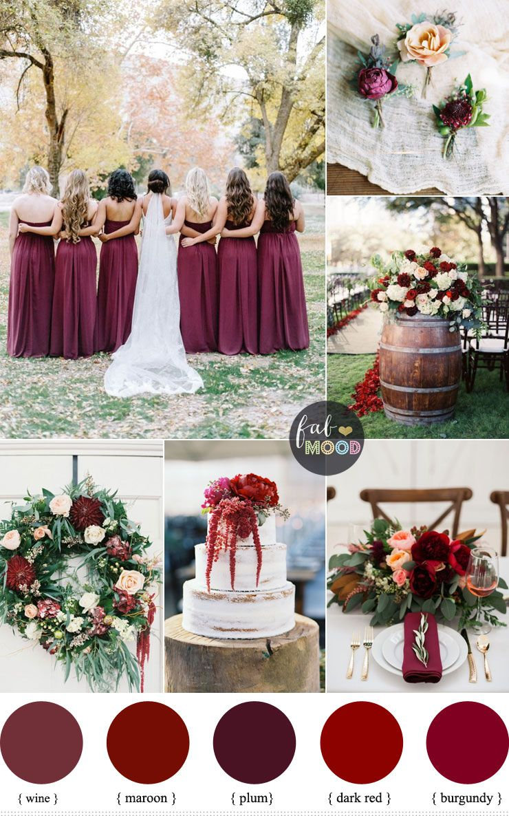Burgundy Wedding Theme Autumn Wedding Shades Of Burgundy Maroon Plum Wine Burgundy Wedding Theme Burgundy Wedding Colors Wedding Themes Fall