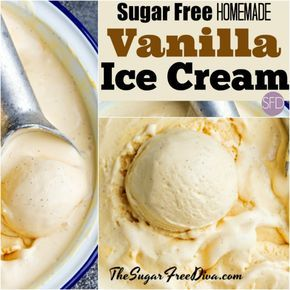 The recipe for delicious Sugar Free Vanilla Ice Cream #healthyicecream