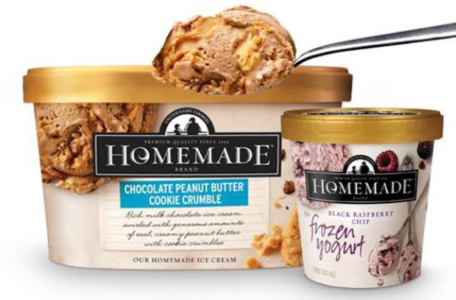 Homemade Brand Ice Cream Double Peanut Butter Cookie Crumble & Black Raspberry Chip Frozen Yogurt