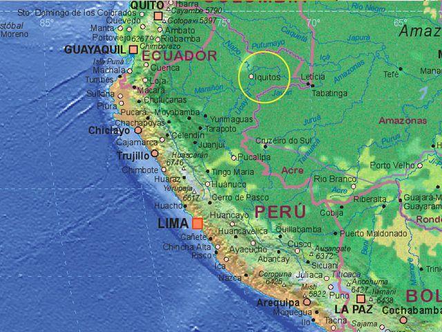 Iquitos Peru map AquaExpeditions Aqua Expeditions