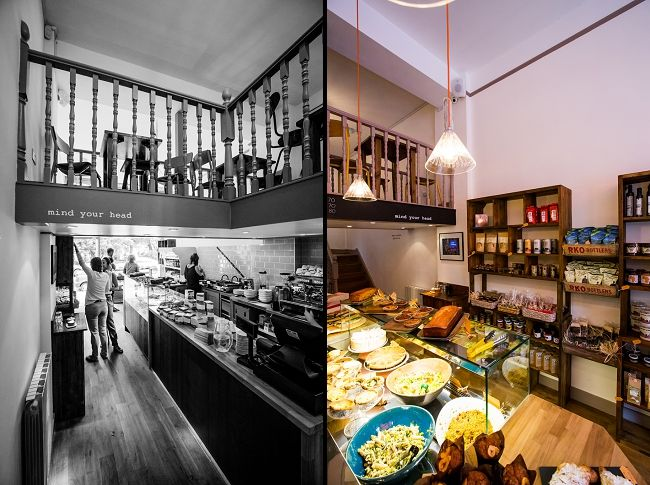 Bespoke shelving, furniture and counter design in Cinnamon Deli ...
