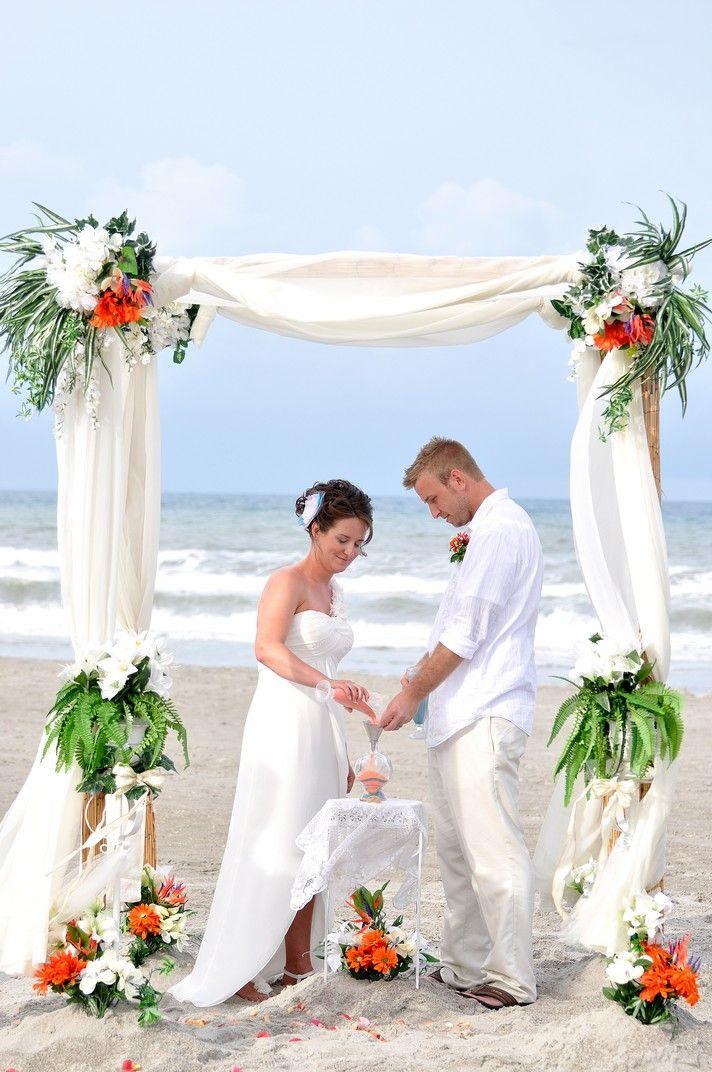 Beach Wedding Under An Elegant Canopy