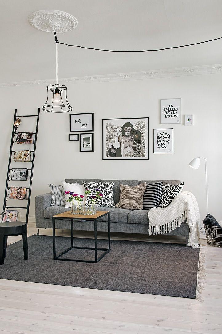 grey living room Home Living Room Pinterest Grands espaces