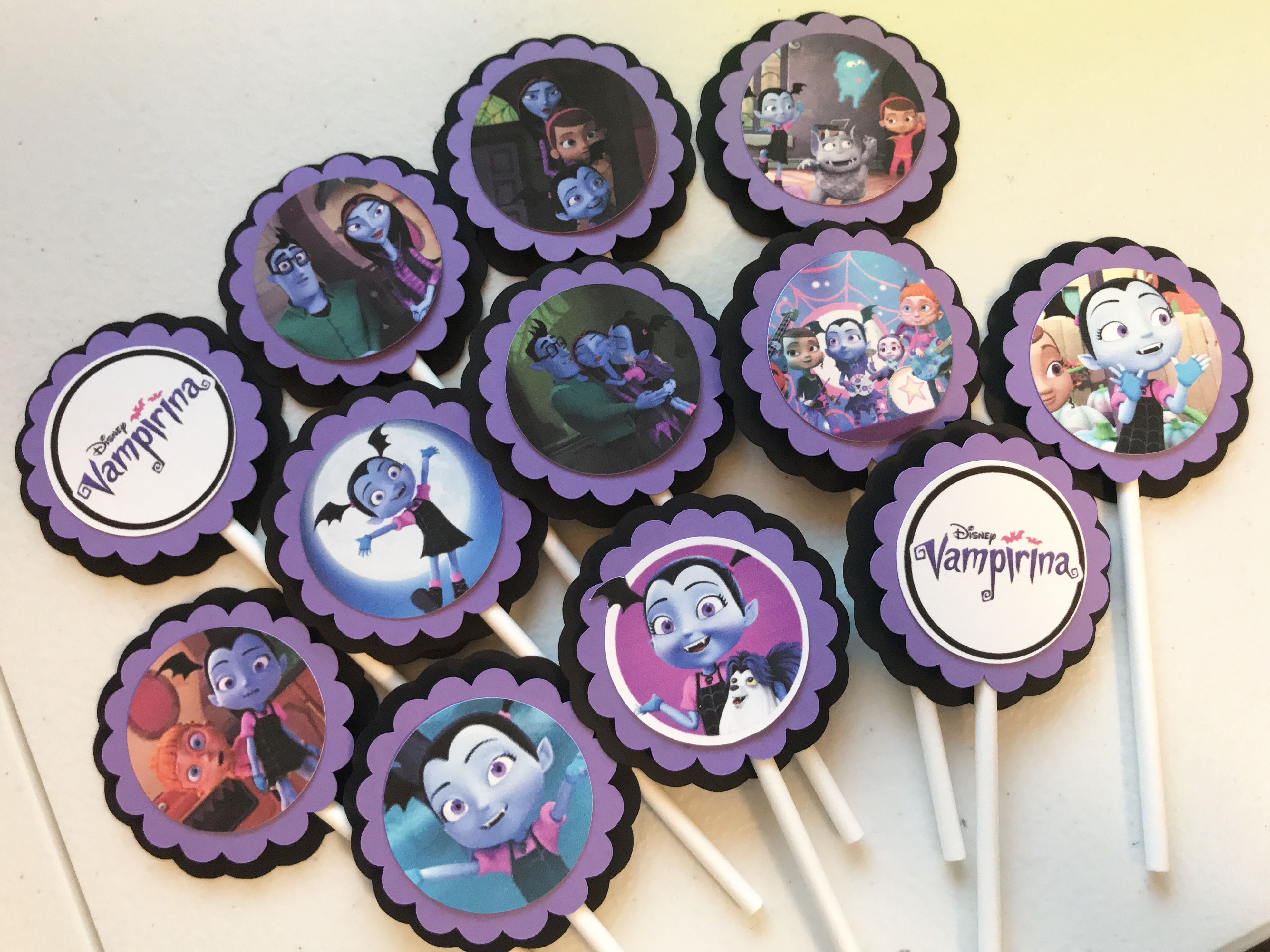 Vampirina Cupcake Toppers Vampirina Birthday Party Vampirina