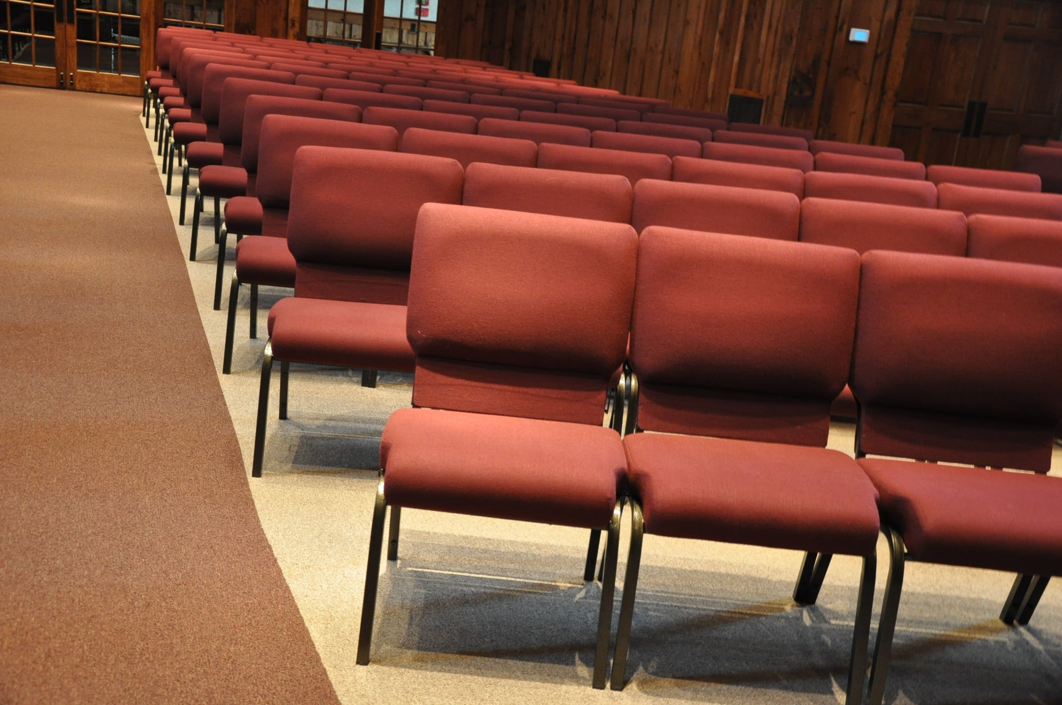 "20 5"" Concealed Back Church Chairs Trinity Evangelical Church"