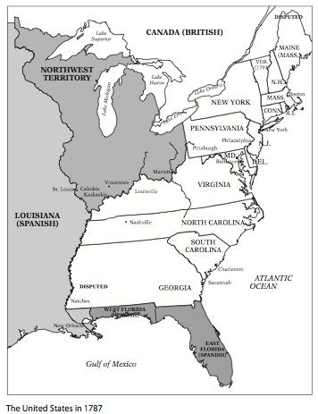 map of united states in 1787 Effects of the Articles of Confederation | Education.