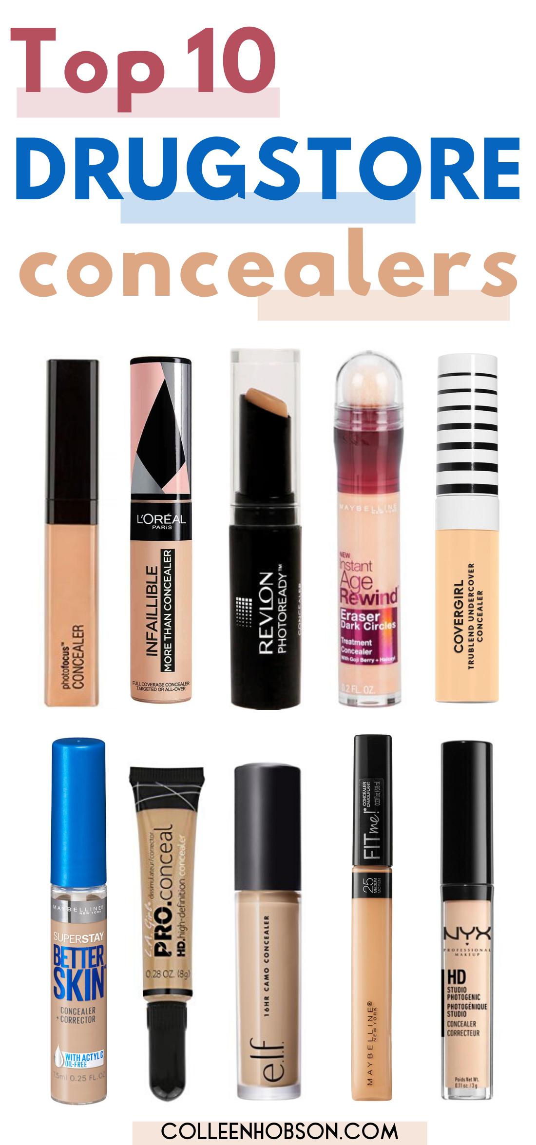 The 10 Best Drugstore Concealers To Score In 2020 Best Drugstore Concealer Drugstore Concealer Beauty Products Drugstore