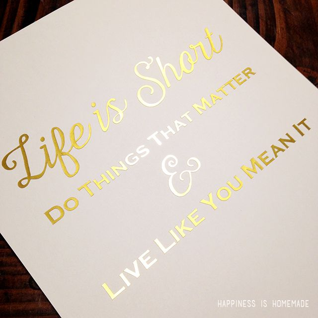 photo relating to Silhouette Printable Gold Foil named Gold Print Developed with Silhouette Printable Gold Foil Minc