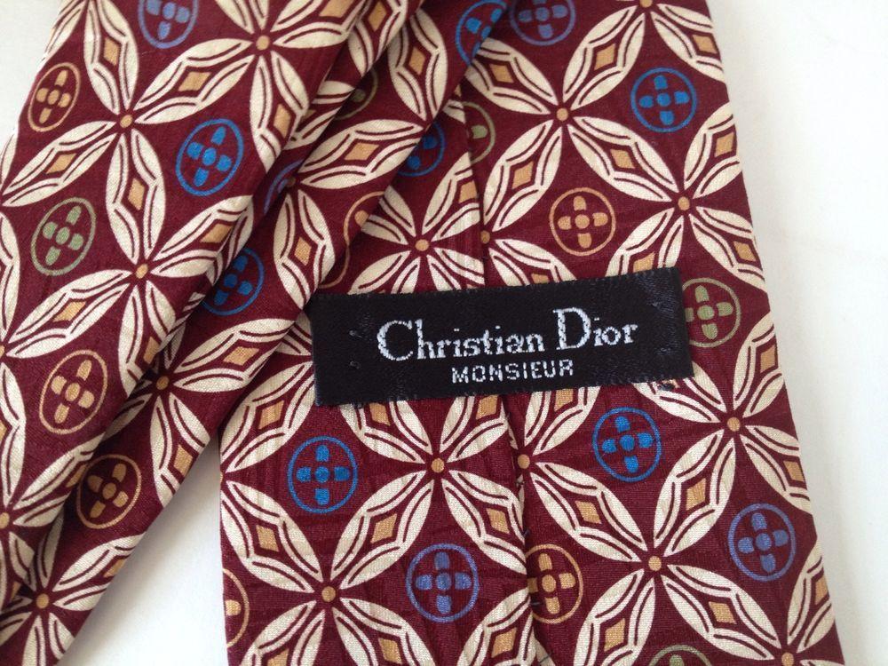 962914aa6a70 Christian Dior Monsieur Tie Mens Silk Neck Tie Brown 4 x 58 Made in USA  Classic #ChristianDior #NeckTie