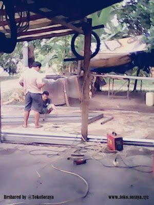 Ahli Canopy Teralis Di Jambi Yang Sedang Memproses Pembuatan Teralis Aksesoris Mobil Alis