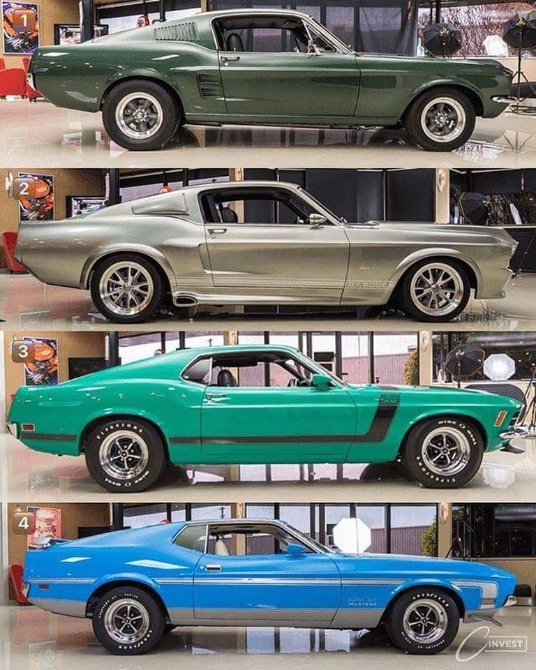 The 1967 Stang From Bullitt Eleanor 1967 Gt 500 Super Snake 1970 Boss 302 1971 Boss 329 Autos Mustang Coches Chulos Coches Clasicos