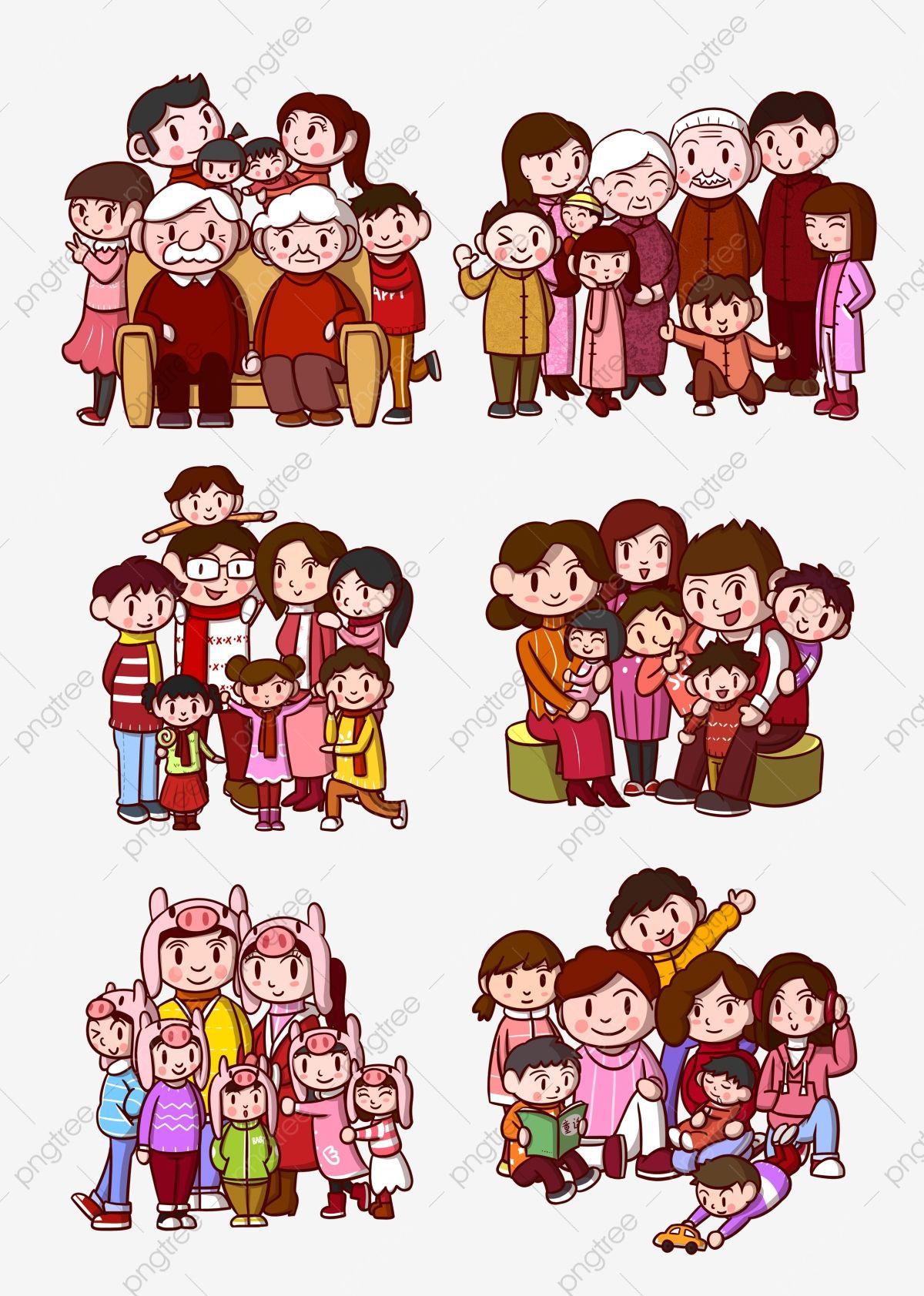 ภาพการ ต นครอบคร ว ภาพต ดปะครอบคร ว พ อแม เด กภาพ Png และ Psd สำหร บดาวน โหลดฟร Family Cartoon Cartoon Head Person Cartoon