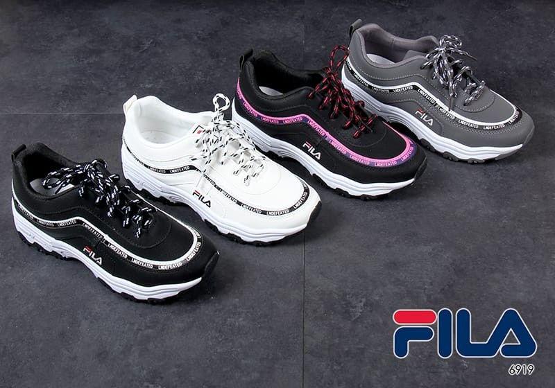 Sepatu Fila Sneakers 6919 Heel 4cm Bahan Kulit Kwalitas Semi
