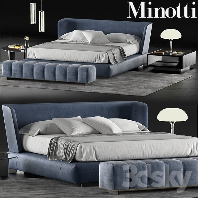 Best Minotti Creed Bed Master Bedroom Furniture Luxury 400 x 300