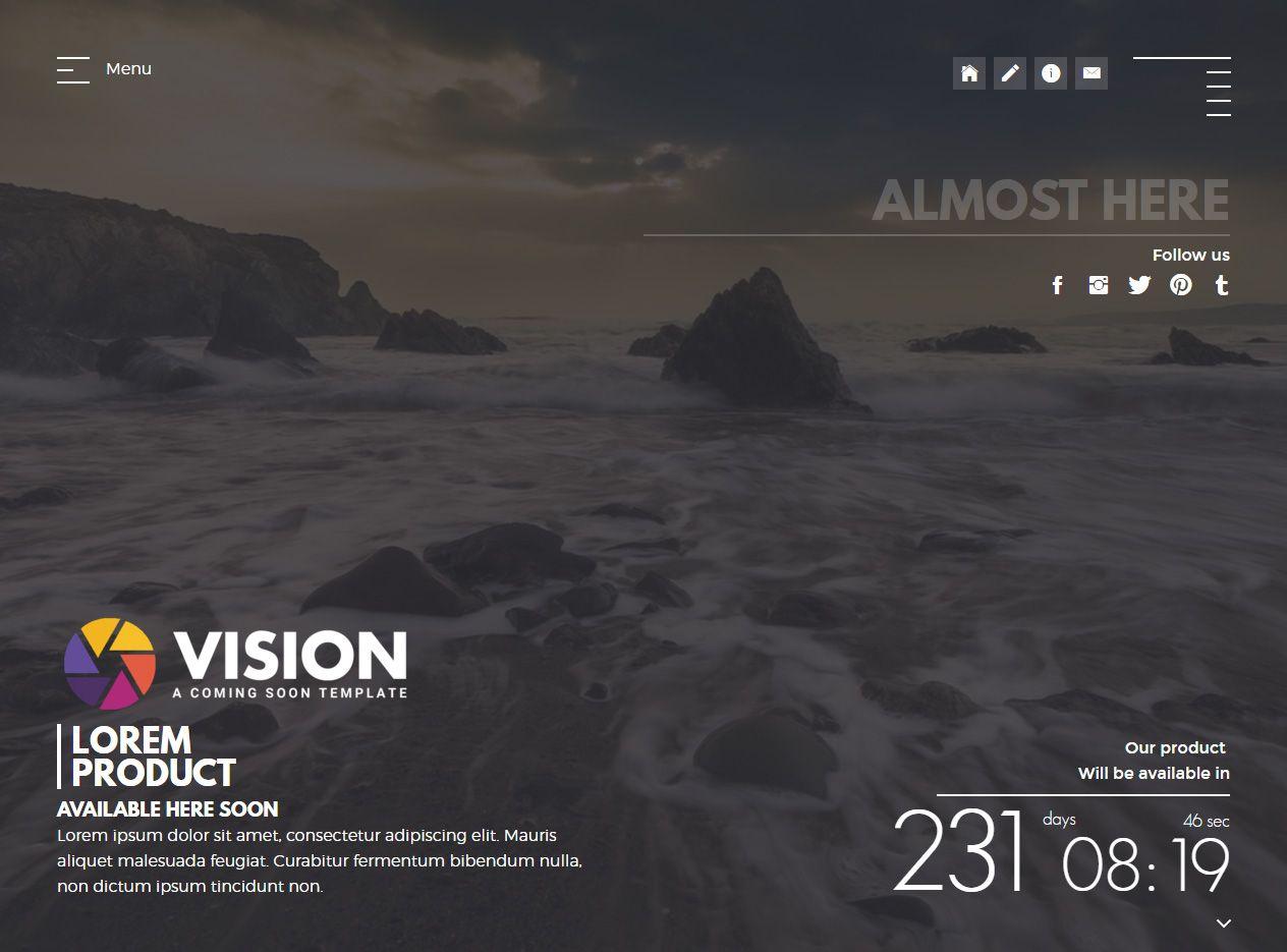 VISION is Premium full Responsive Retina #HTML5 #ComingSoon ...