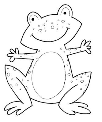 Printable Frog Coloring Pages Frog Coloring Pages Shape Coloring Pages Easy Coloring Pages