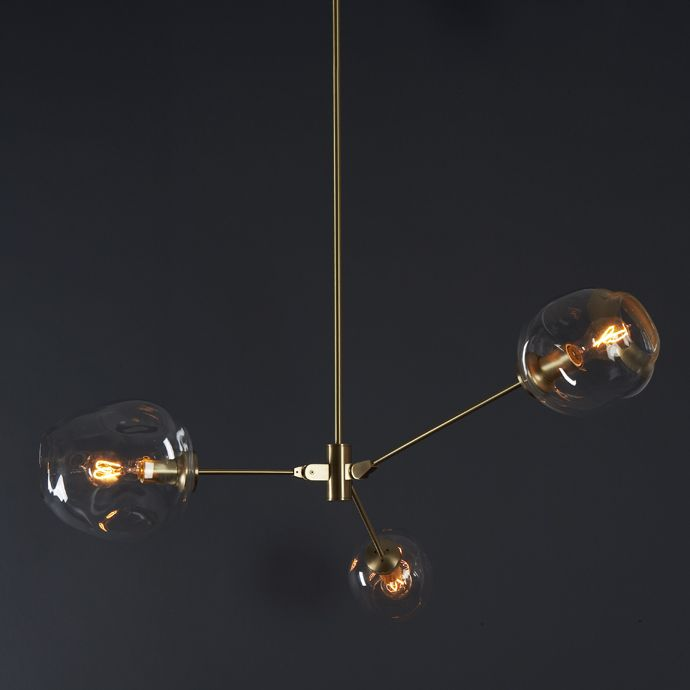 Lindsey Adelman 3 globe Bubble Lamp Ceiling