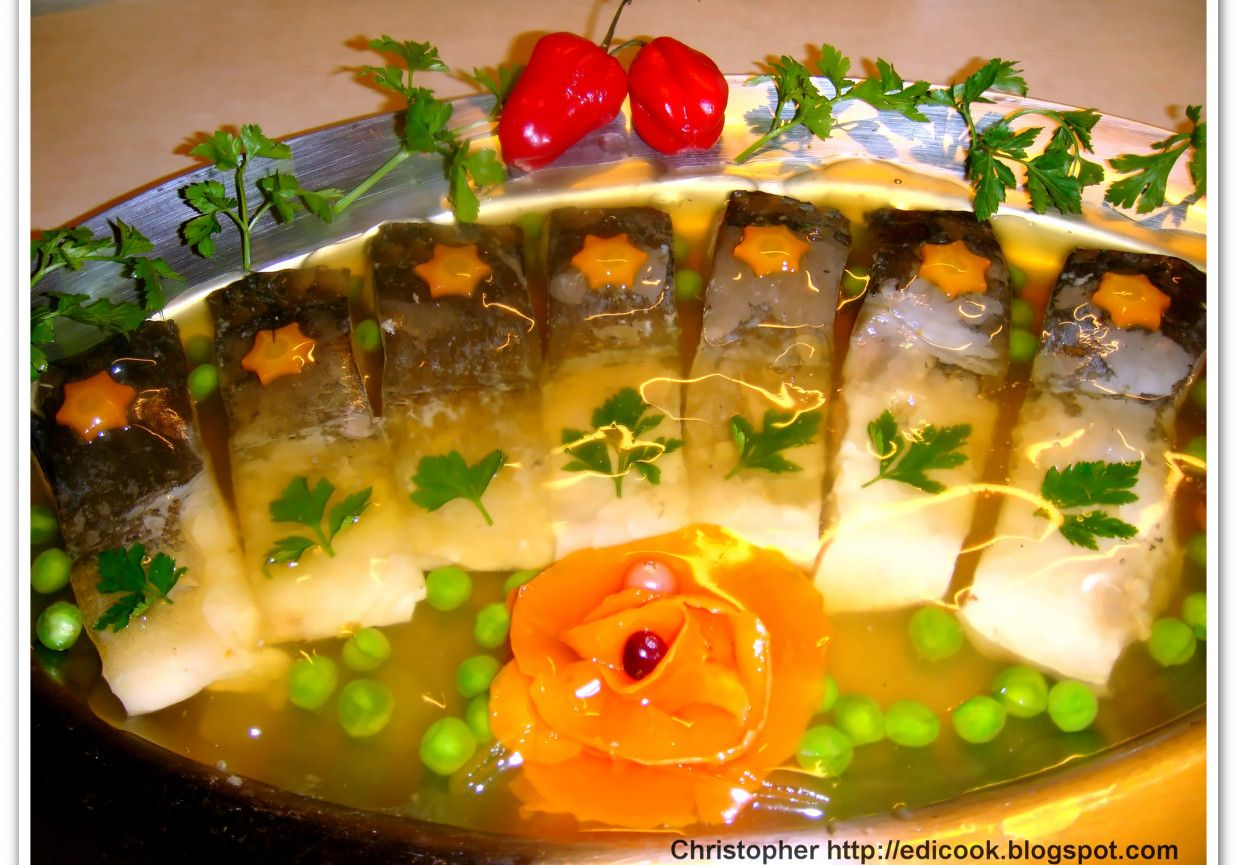 Karp W Galarecie Klarowanej Doradcasmaku Pl Recipe Food And Drink Culinary Recipes Food