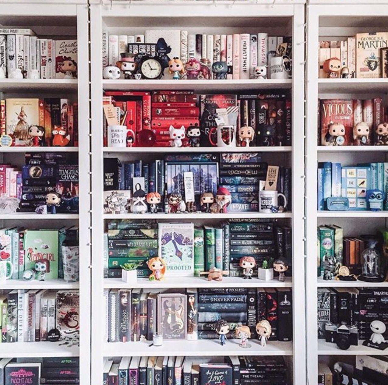 Co colour coordinated bookshelf - Bookshelf And Funko Pop