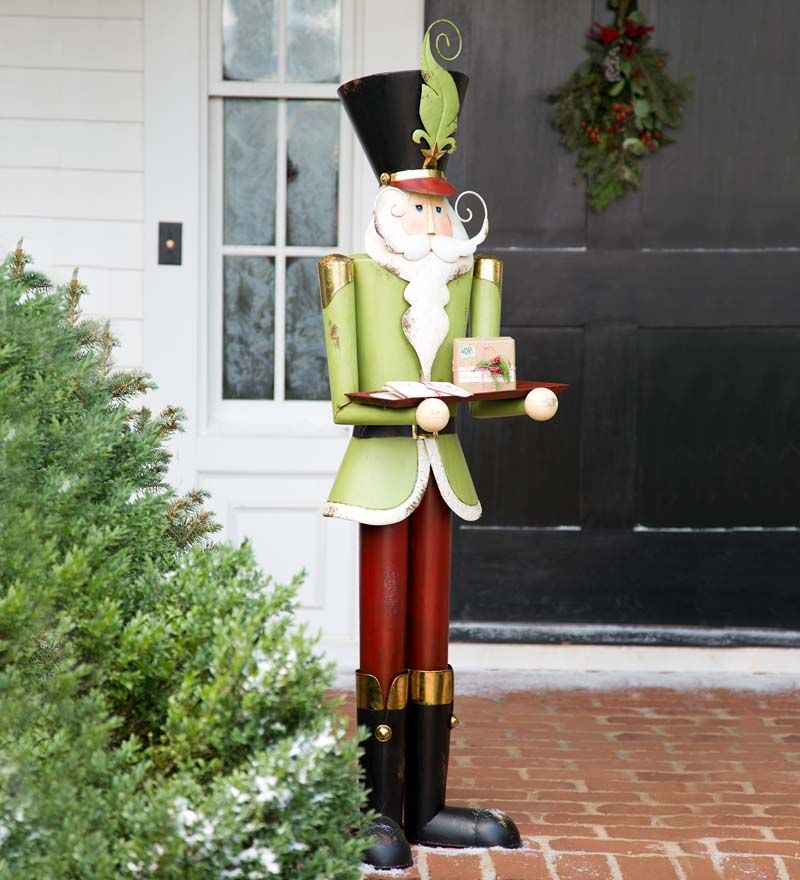 Lifesize Metal Nutcracker Holiday Accent Indoor