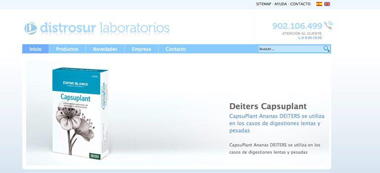 Proyecto CMS Joomla Páginas Web Laboratorios Distrosur