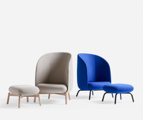 Cool New Easy Nest a clean cut high back armchair—a perfect covering In 2018 - Modern modern blue chair In 2019