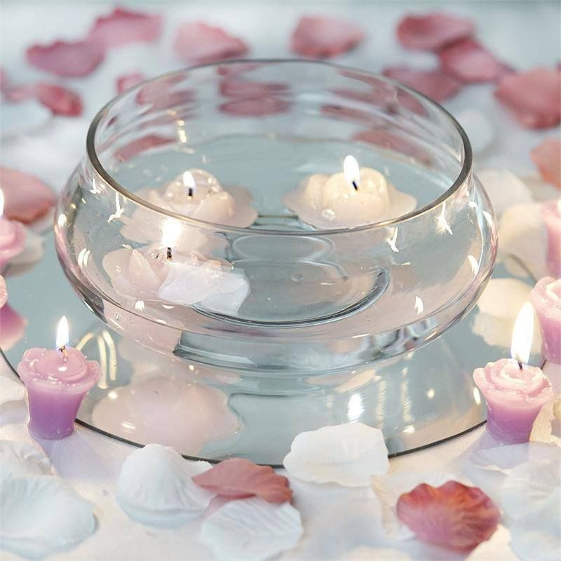 "Floating Candles Centerpieces Ideas For Weddings: 7"" Floating Candle Glass Bowls"