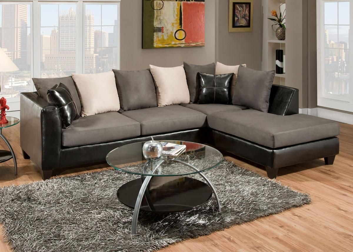 Lanzo 2 Pc Sectional Gray Sectionals Sectional Sofa Gray Sectional Living Room Sectional Sofas Living Room