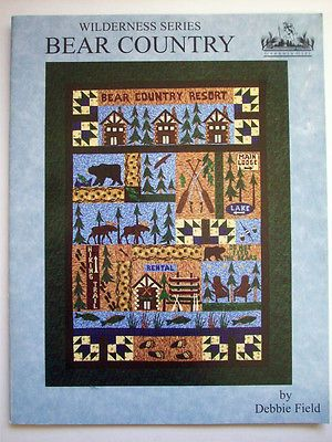 Bear Country Primitive Cabin Quilts Moose Bear Canoe