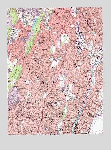 MC in Bloomfield and Newark current 1 24 topo of Orange NJ USGS