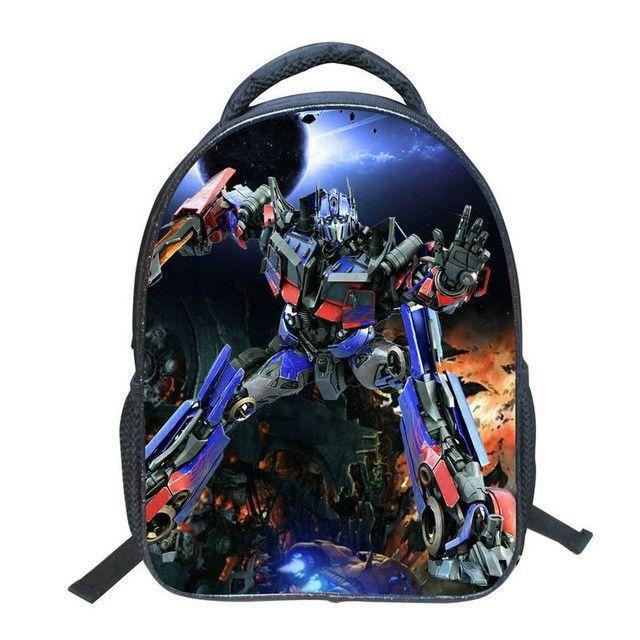 658029ddf5 Cartoon Robotic Pattern Backpack Schoolbag Children Pupil School Bag Boy  Bags Nylon Backpacks Kids School Bags Book Bags BB82