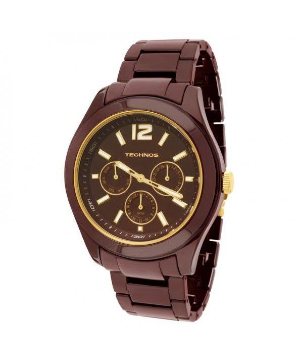 Relógio Technos Feminino Elegance Ceramic 6P29IQ 1M   RELÓGIOS ... 298b88705f