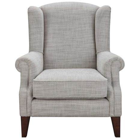 Best Classic Wing Armchair Herringbone Natural From Freedom 400 x 300
