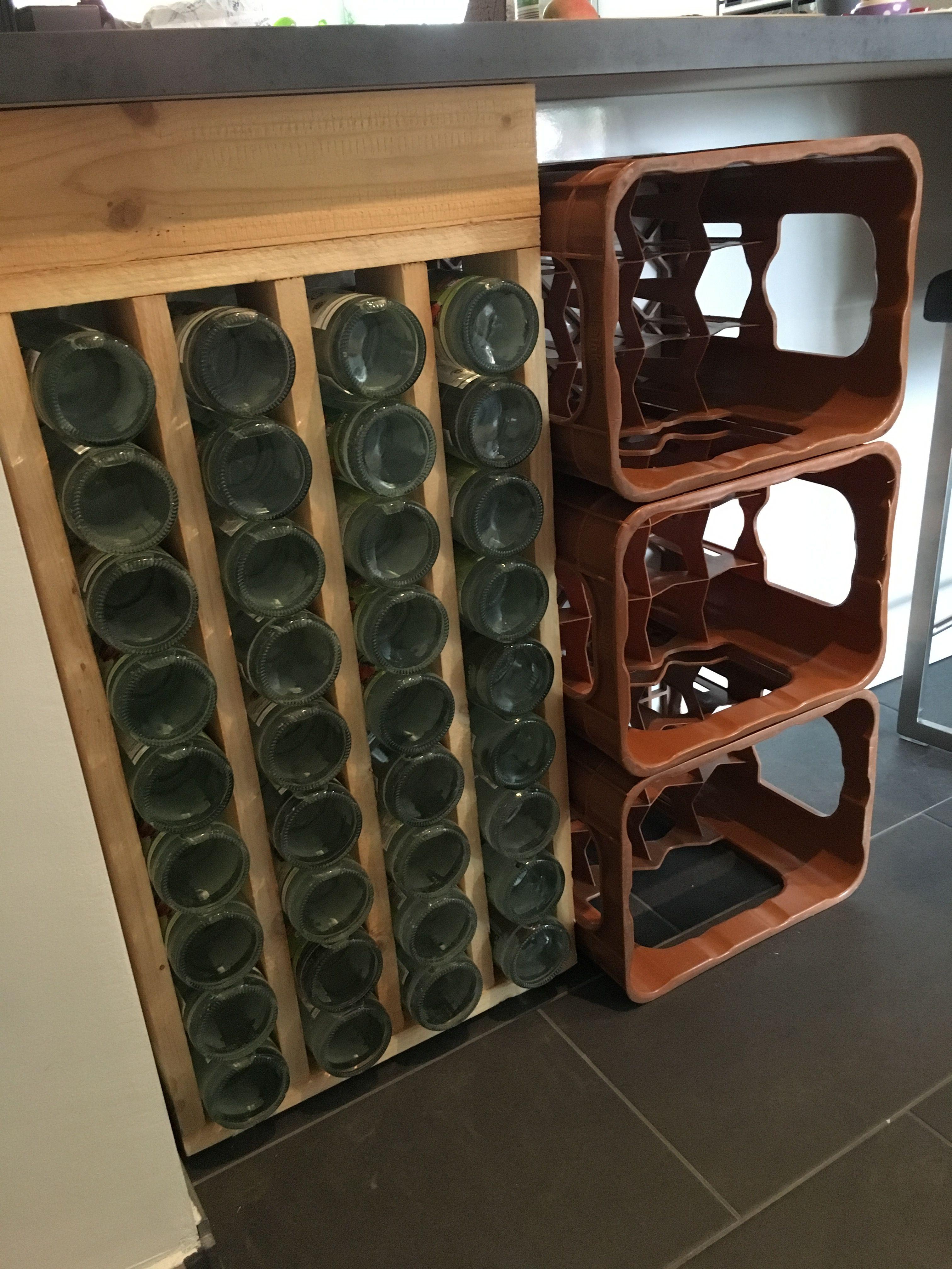 Platz sparen Wasserflasche in der Wohnung