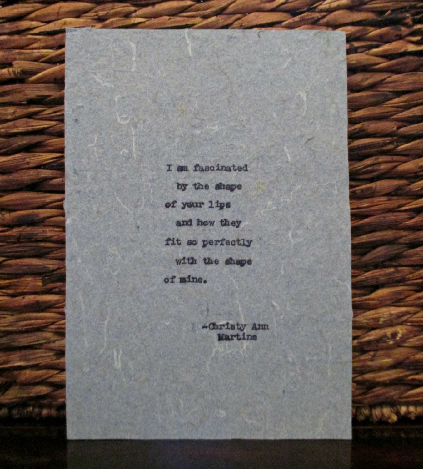 Romantic Gift for HIm or Her Love Poem Fascinated by Your ...
