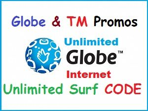 Globe Unlimited Data Prepaid Promos Unlimited Surf Using Tm And