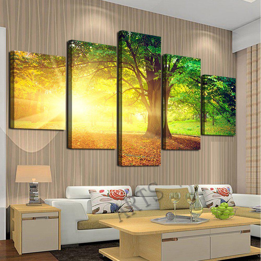 Cao Gen Decor Art-AH40139,canvas Prints, 5 panels Framed Wall Art ...