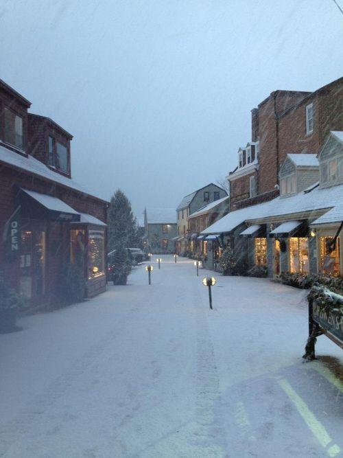 Gorgeous,charming Newport, RI in snow.              #VisitRhodeIsland