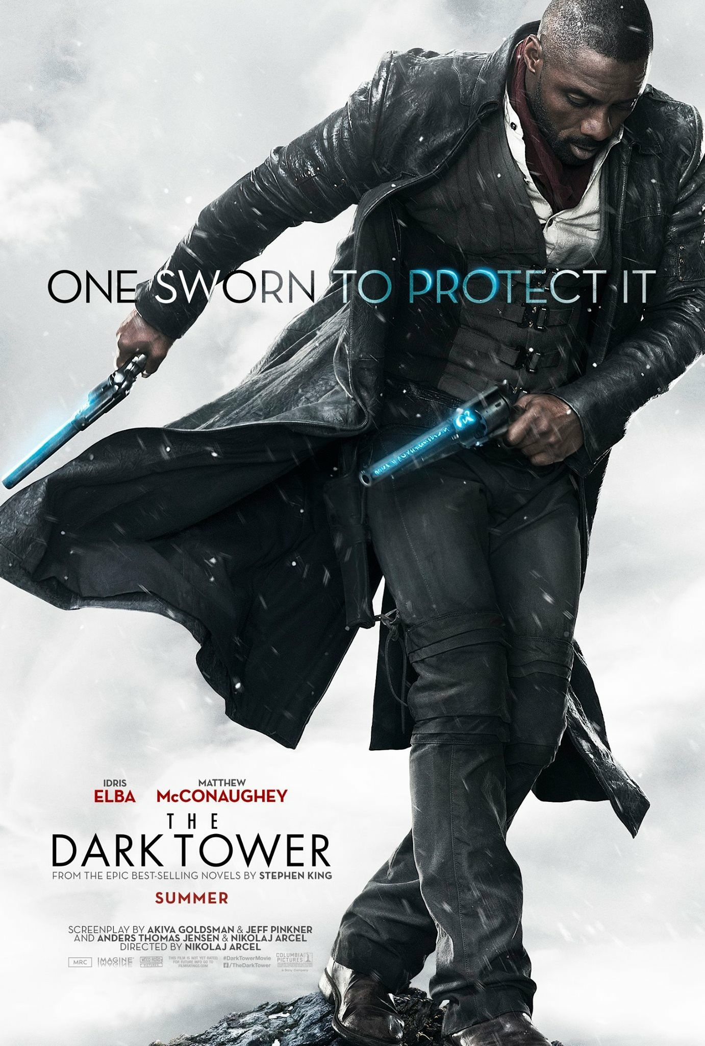 Idris Elba Films Dark Tower Scenes With Tom Taylor As Jake New Dark Tower Movie Poster The Dark Tower Dark Tower Movie