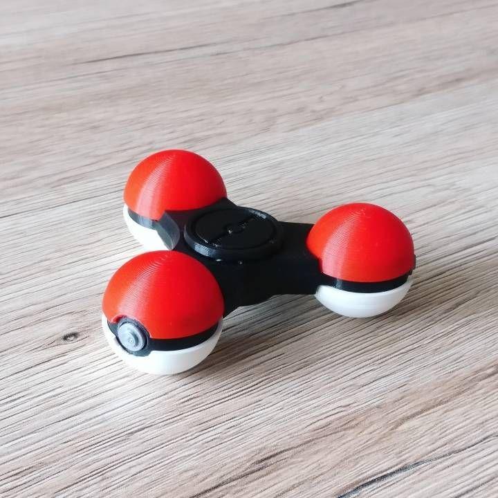 3D Printed Poké Ball fid spinner Pokemon Go Moments