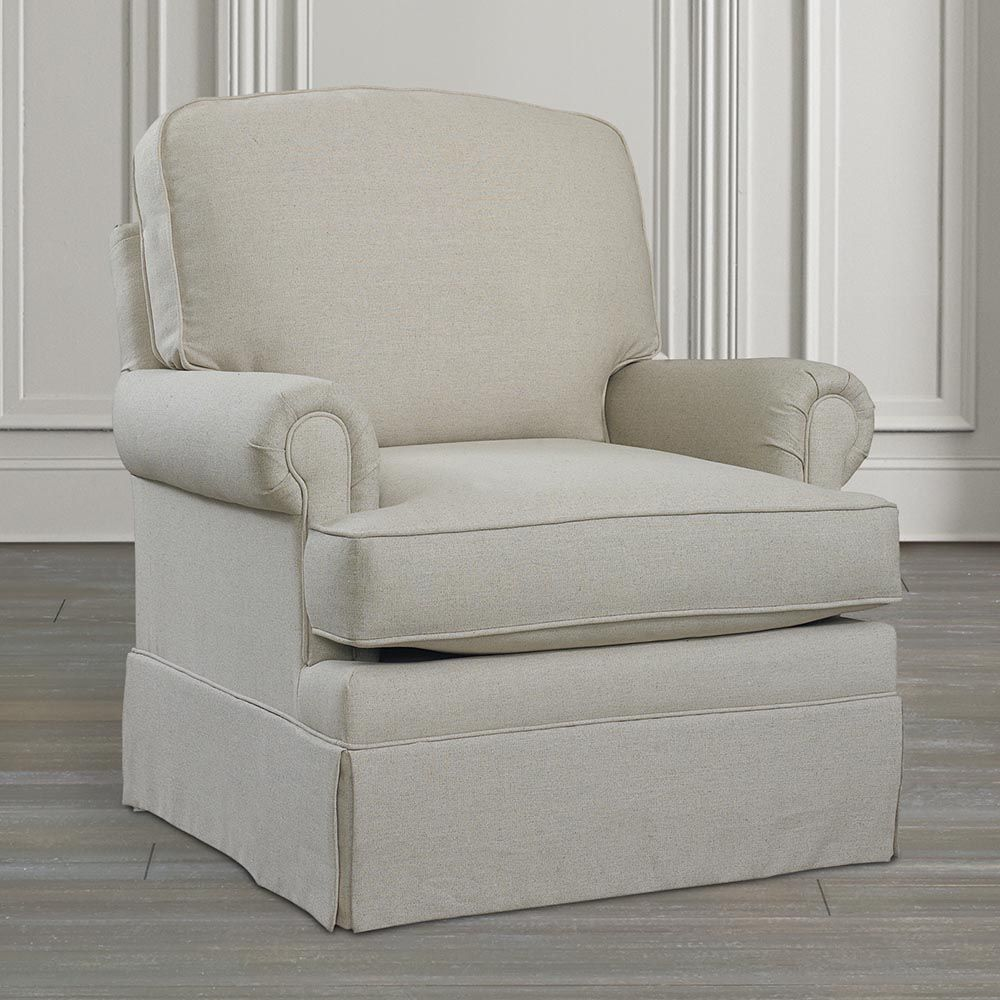 Superieur Bassett Furniture   Porter Swivel Glider Love The Detail In This Chair. The  Piping, Rounded Arms, Separate Pillow For Back.