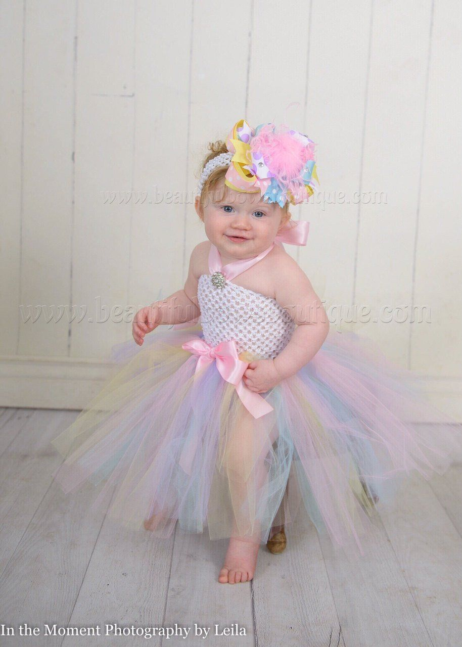 38cd95debf66 This listing is for the Easter Pastel Tulle Tutu Dress in light pink, baby  blue