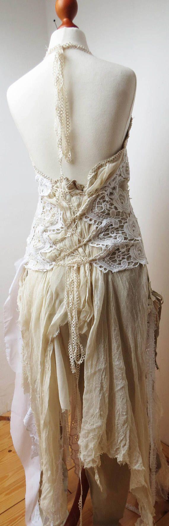 Wald Elfen Hochzeit Brautkleid Hochzeitskleid Kleid Festival