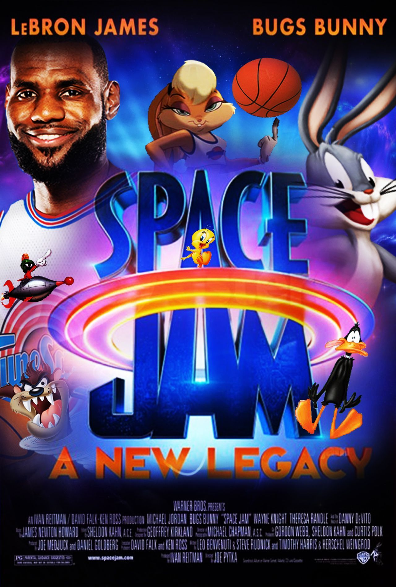 Space Jam: A New Legacy (2021) Hindi (HQ Fan Dub) + English [Dual Audio] | WEBRip 720p [MelBET]