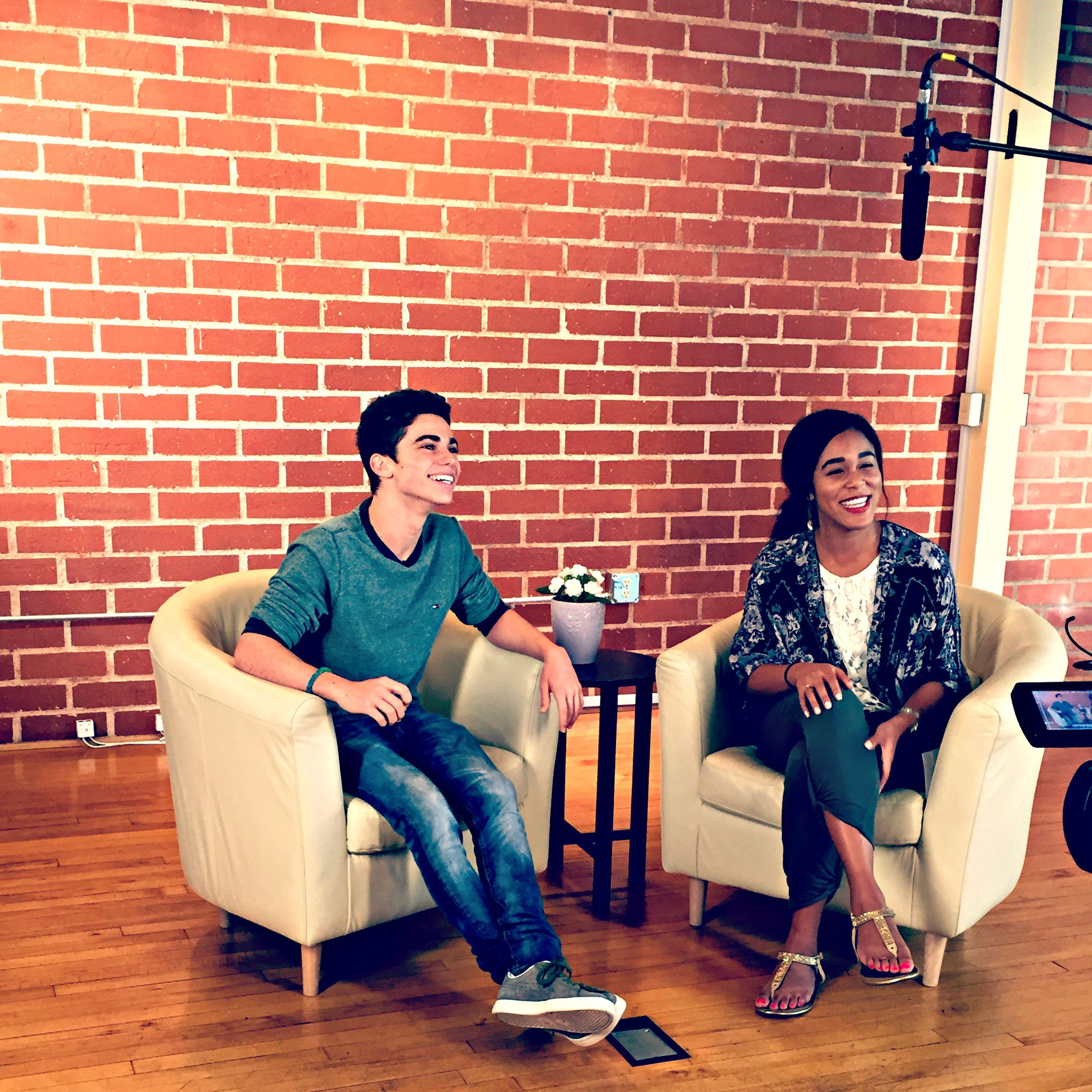 Behind the scenes with actor Cameron Boyce at his Fanlala