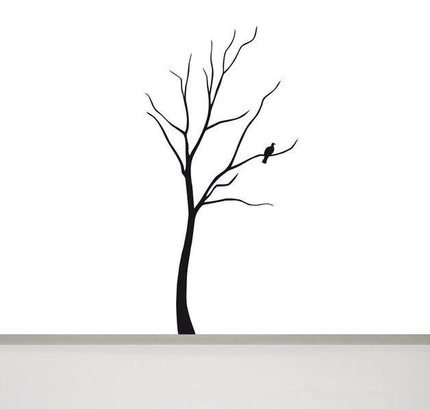 Baum Mit Vogel Wandtattoo, 180 Cm Hoch