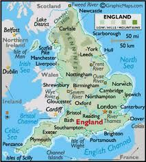 Anglia mapa England Germanic English UK England
