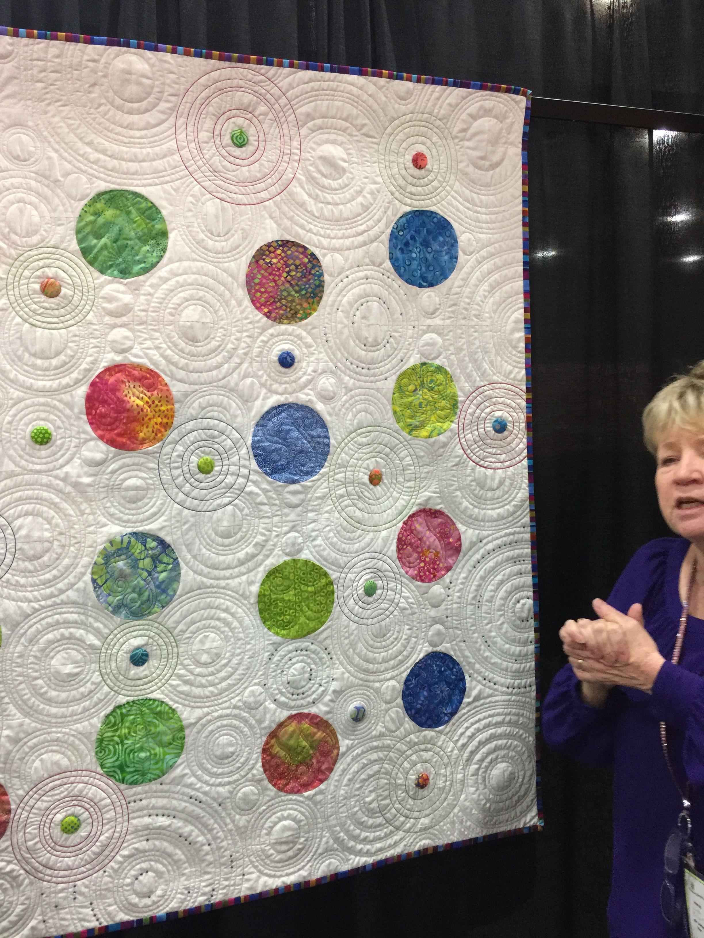 Quilt of Linda Reinert Quilting with Circles Pinterest